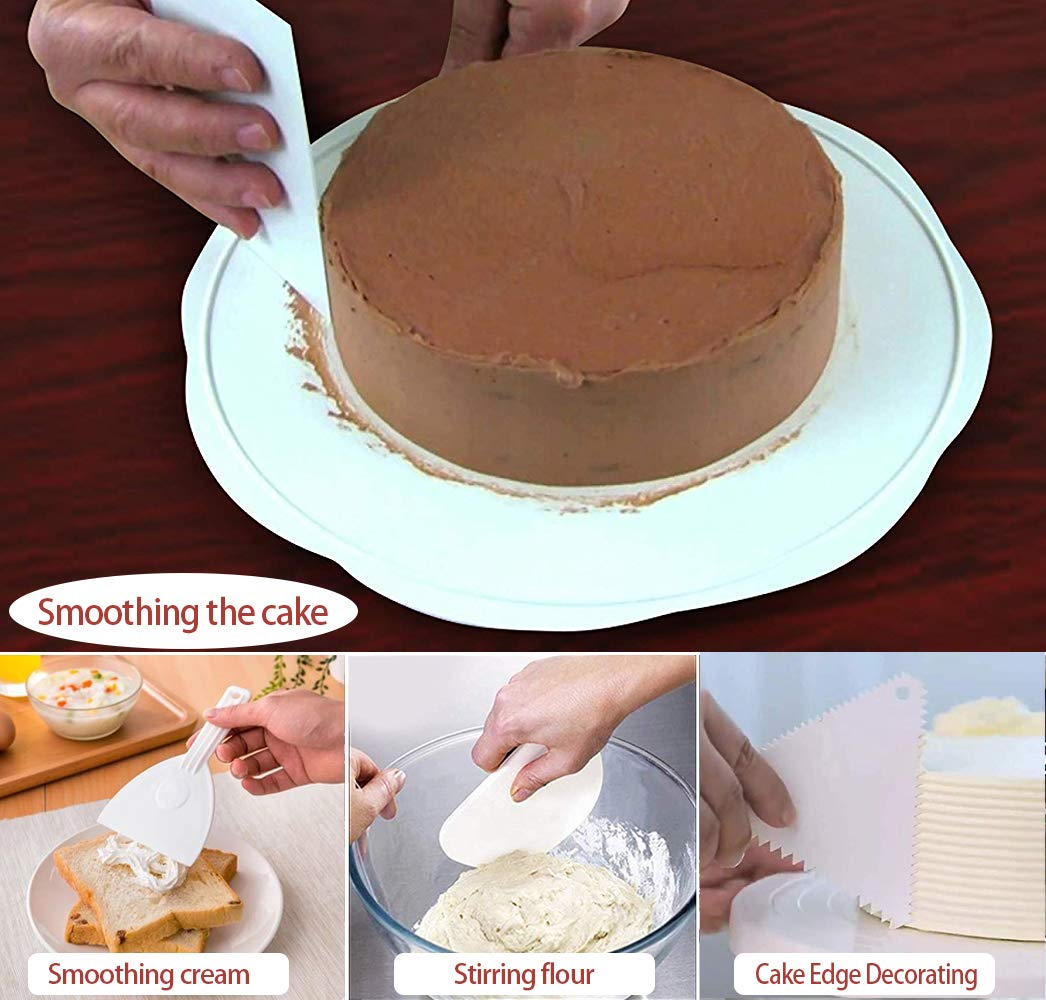 Cake Scraper Icing Smoother 14pcs in 1 Set Icing Smoother for Cakes,Teenitor Bench Scraper for Cakes