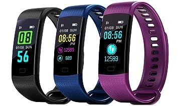 MMTEK-NP 38 Pulsera Actividad con Pulsómetro Mujer Hombre, Monitor de Actividad Deportiva, Ritmo Cardíaco, Impermeable IP67, Reloj Fitness, ...