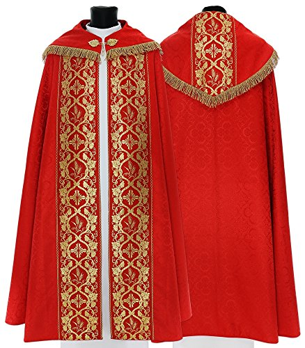 Red Gothic Cope Vestment K012-C25f (red)