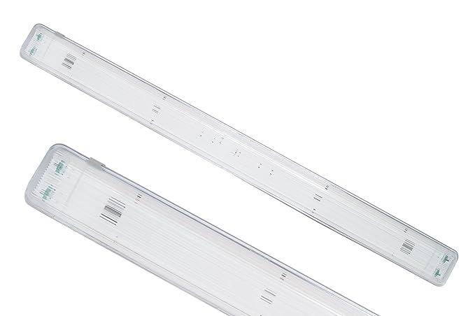 Plafoniere Neon Da Esterno : Plafoniera stagna esterno doppio neon t cm soffitto vuota
