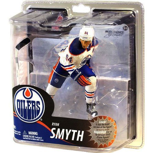 McFarlane Toys NHL Sports Picks Series 30 Action Figure Ryan Smyth (Edmonton Oilers) White Jersey Silver Collector Level Chase by (Ryan Smyth Edmonton Oilers)