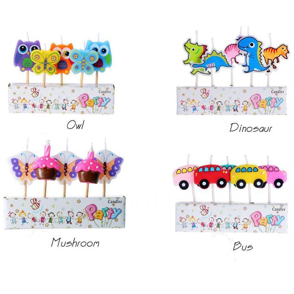 Zongheng Ecape Cartoon Animal Party Candles Adorable Giraffe Candles Handmade Craft Candles Western Cake Decoration Cake Candles 5 Candles a Set by Ecape (Image #4)