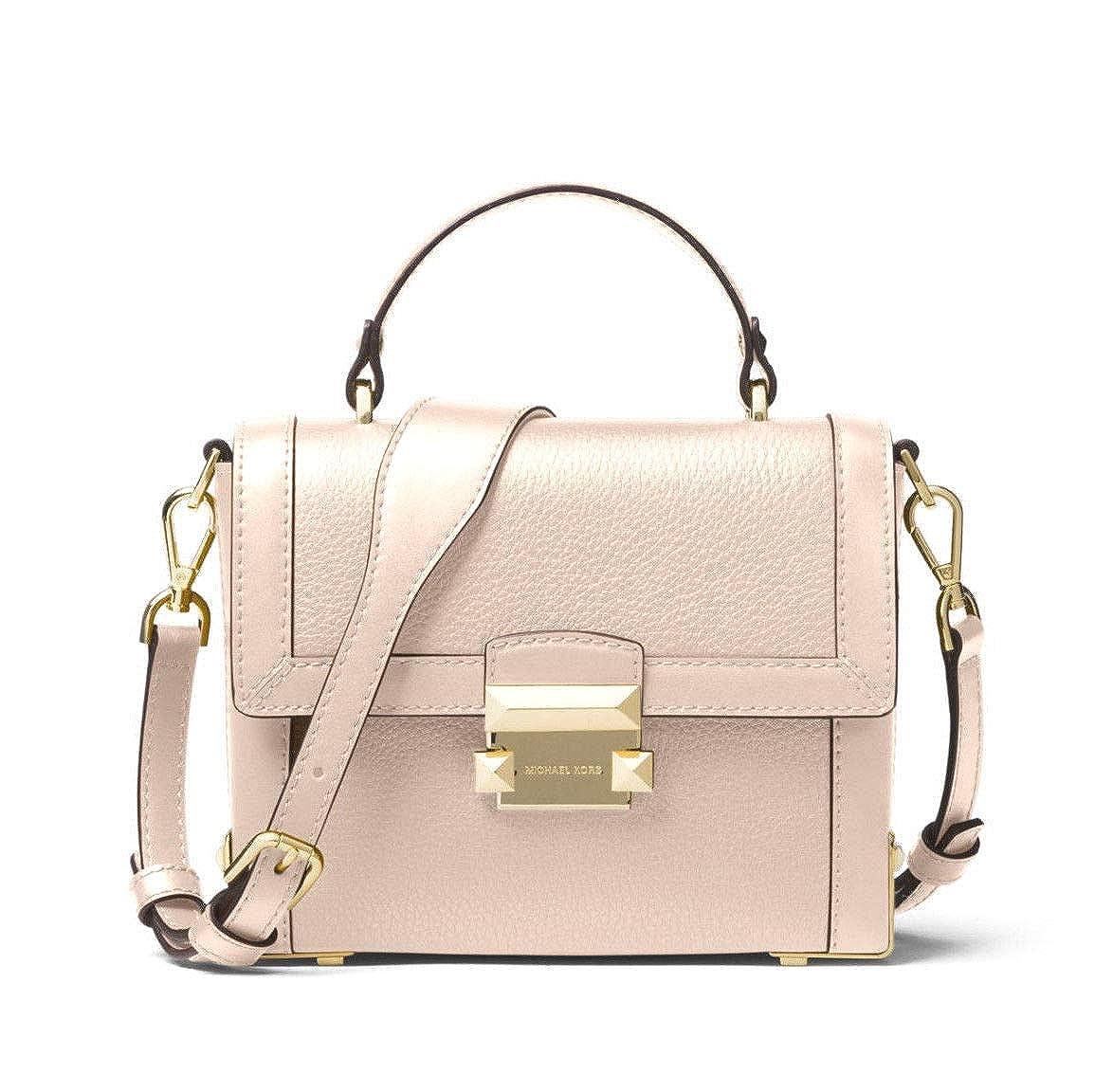 f7c96150c0b9 MICHAEL Michael Kors Jayne Small Pebbled Leather Trunk Bag in Soft Pink   Handbags  Amazon.com