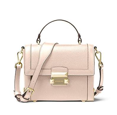c227e3cf3d8 MICHAEL Michael Kors Jayne Small Pebbled Leather Trunk Bag in Soft Pink:  Handbags: Amazon.com
