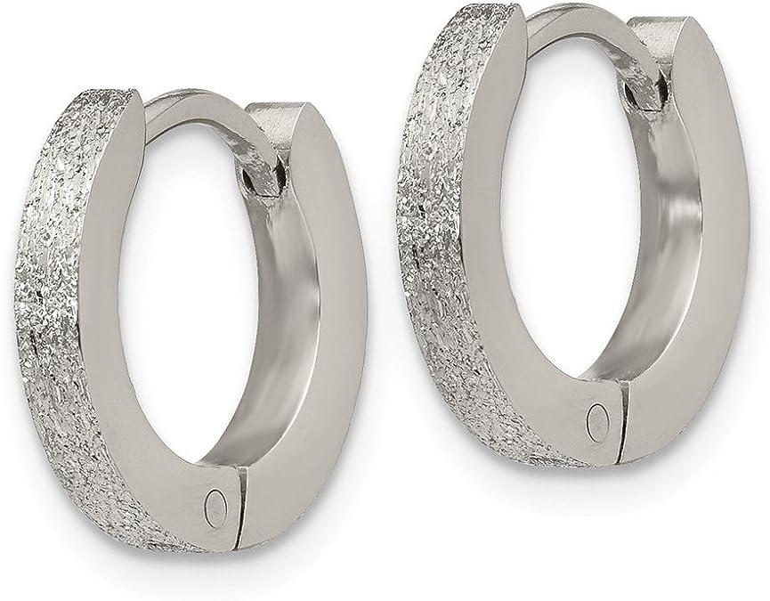 Lex /& Lu LogoArt Stainless Steel Bali Type Round Earring Import #20