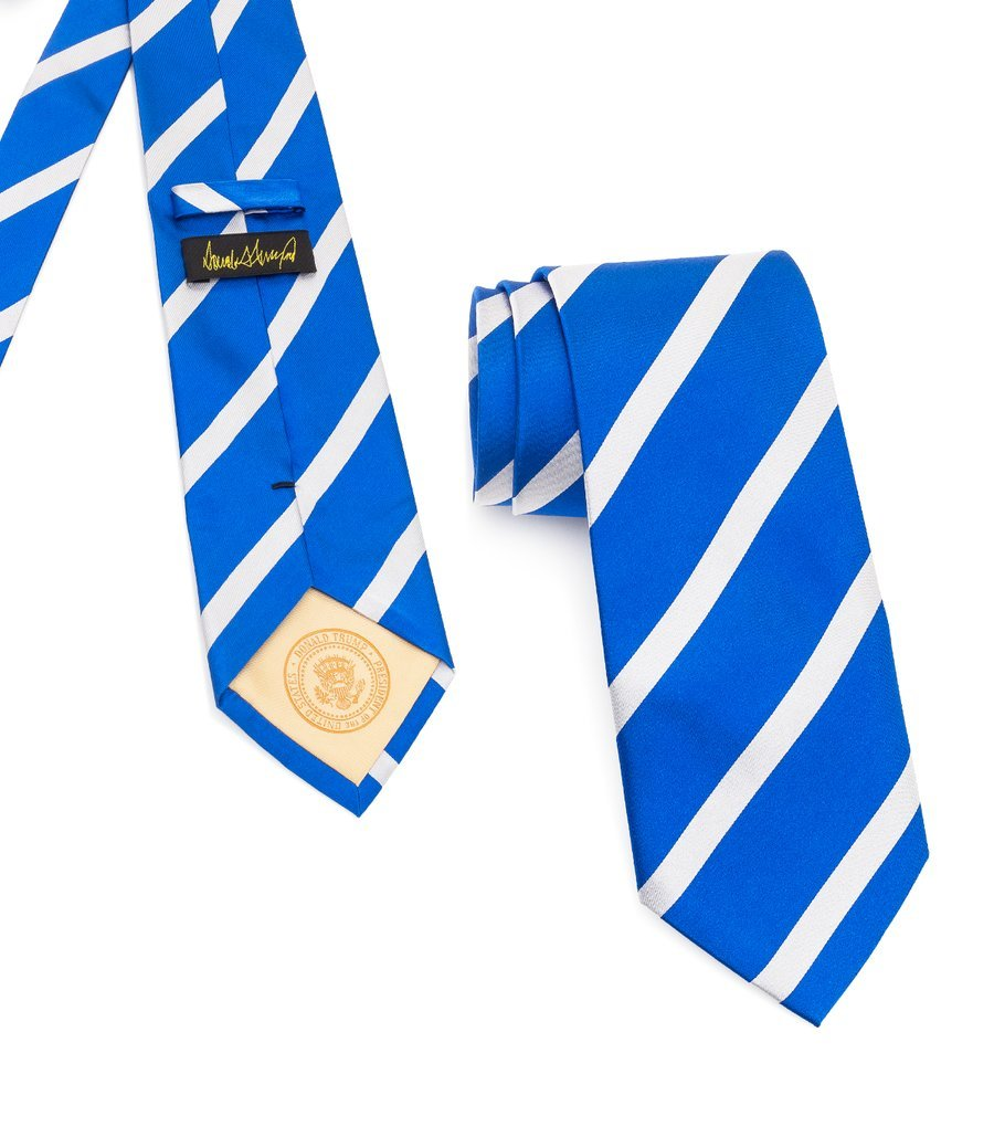 Donald J. Trump Tie | Long And Wide | Striped Trump...