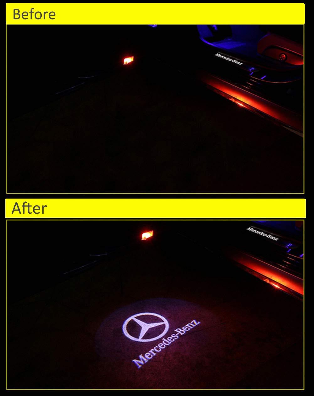 Auto Geist Schatten Projektor Licht Logo T/ür Lampe f/ür W166 W212 W246 W176 W205 X164 A B C E Class GL GLC GLE GLS GLA/ BSVLIA Autot/ür Logo Licht 2 pack