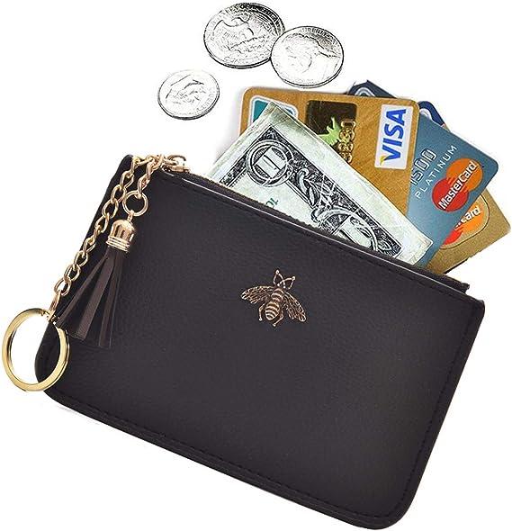 zip purse wallet purse ladies gift swans Coin purse money purse