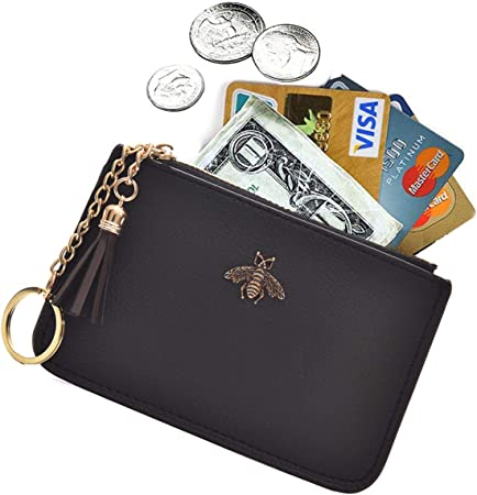 Snow White Dwarfs Dopey handmade zipper fabric coin change purse card holder