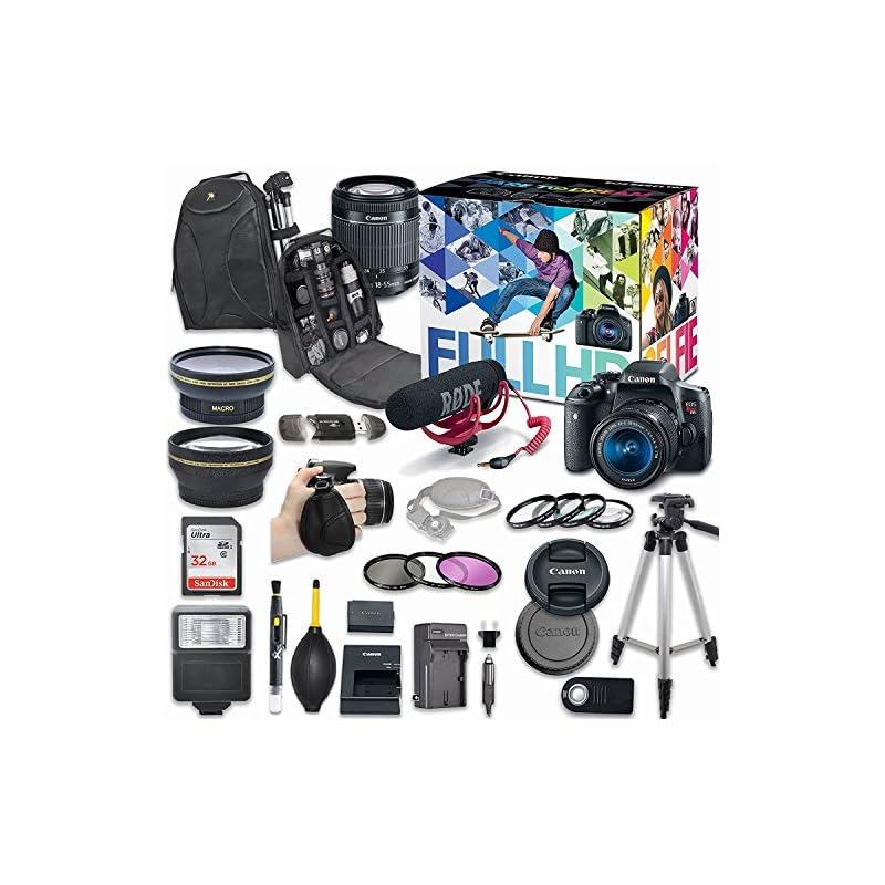 Canon EOS Rebel T6i DSLR Camera Deluxe V