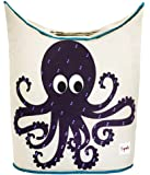 3 Sprouts Laundry Hamper, Octopus, Purple