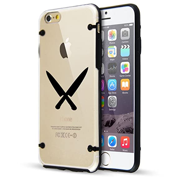 Amazon.com: For Apple iPhone Hybrid Slim Clear Hard TPU ...