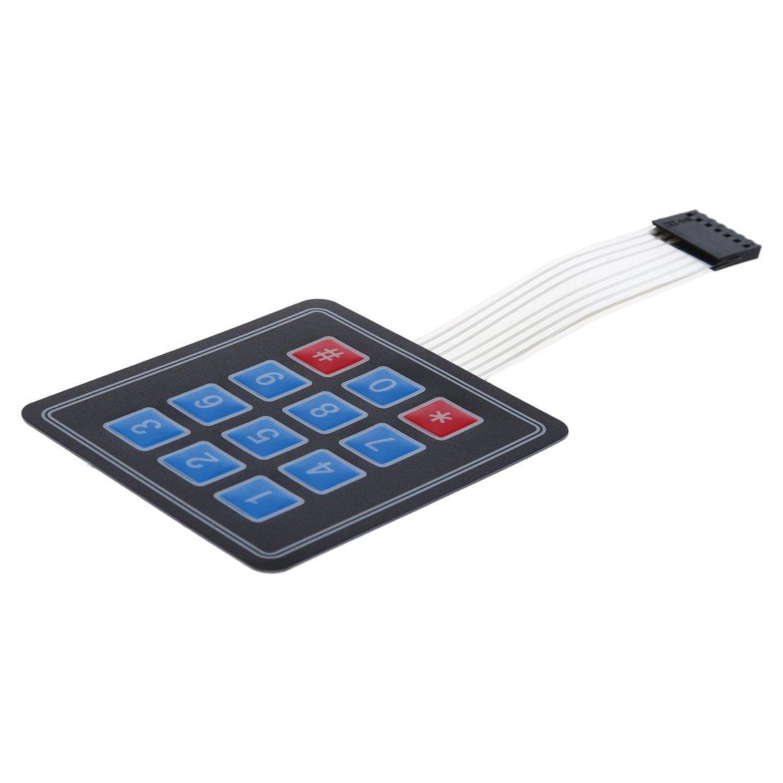 SODIAL(R) Teclado Interruptor de Membrana 4 x3 12 Teclas Matriz para Arduino: Amazon.es: Electrónica