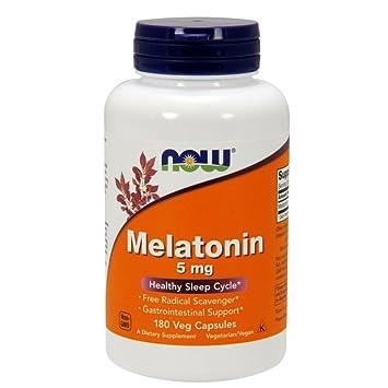 amazon com now melatonin 5 mg 180 veg capsules health personal care
