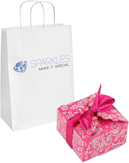 Sparkles Make It Special 10-pcs Medium Ribbon Favor Candy Boxes Wedding Gift Candy Boxes Fuchsia