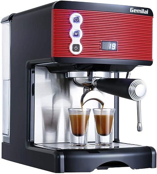 WOLJW Cafetera Capuchino Semi automática de sincronización 1-2 Copa Salida del Sistema 15 Bar 1,7 L 1450W Espresso eficiente para Office Hogar: Amazon.es: Hogar