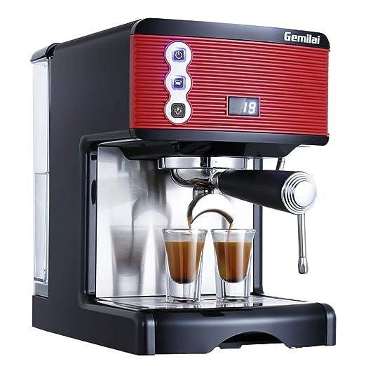 WOLJW Cafetera Capuchino Semi automática de sincronización 1 ...