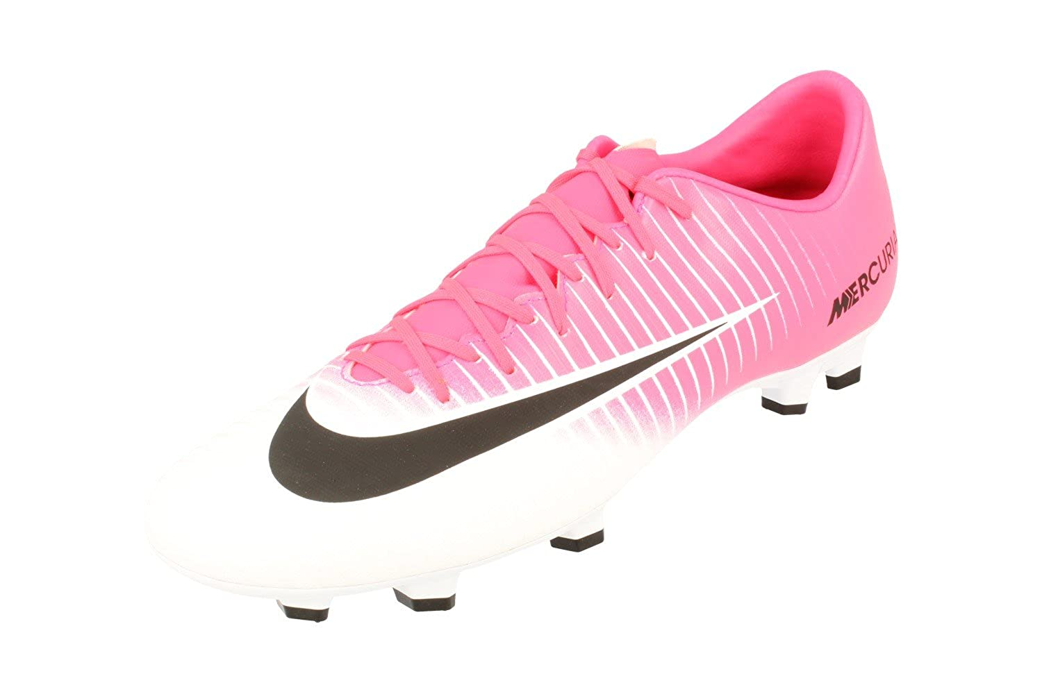 52a75994e365 Amazon.com | Nike Mercurial Victory Vi FG Mens Football Boots 831964 Soccer  Cleats (UK 8 US 9 EU 42.5, Racer Pink Black White 601) | Soccer