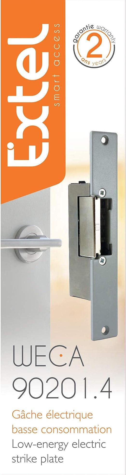 Extel WECA 90201.4 Cerradura eléctrica empotrada de bajo consumo con memoria de pulso: Amazon.es: Bricolaje y herramientas