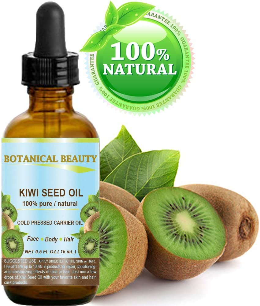 Kiwi Seed Oil. 100% Pure / Natural / Undiluted /Virgin Cold Pressed Carrier Oil. 0.5 Fl.oz.- 15 ml. For Skin, Hair And Lip Care.