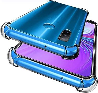 WUFONG Funda para Samsung Galaxy M40,Estuche para teléfono móvil,Caja del teléfono móvil Ultrafina Totalmente Transparente, Cubierta de airbag de Cuatro Esquinas Gruesa: Amazon.es: Electrónica