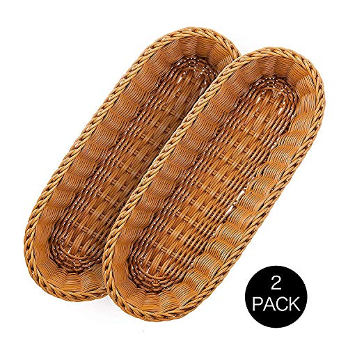 Wicker Bread Baskets - 2 Set 14.5