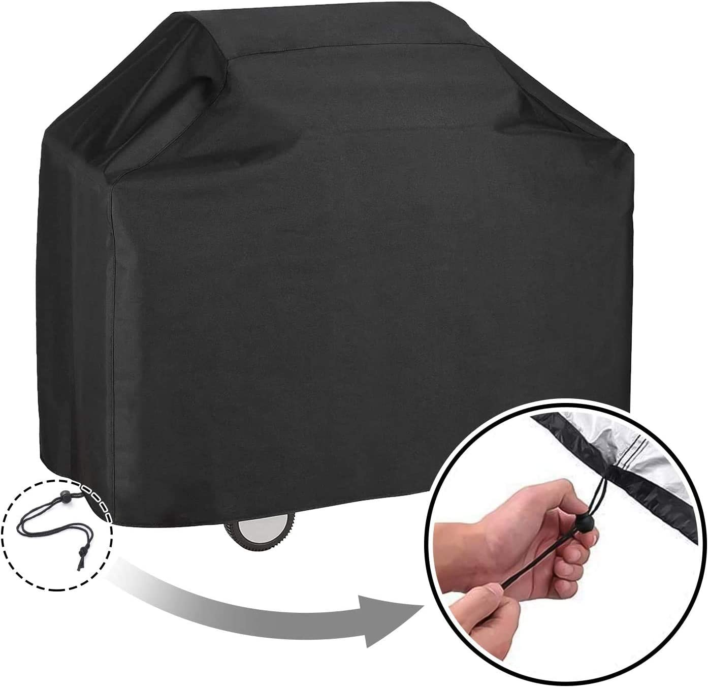 Fits Grills of Weber Char-Broil Nexgrill Brinkmann and More,Black Heavy Duty Waterproof Barbecue Gas Grill Cover Durable and Convenient weber grill cover HDJDZ 40 Outdoor BBQ Grill Cover