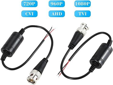 KKmoon Balun video Conector, AHD CVI TVI Coaxial a UTP Adaptador, Cat5 Cat6 Para la Cámara de Circuito Cerrado de Televisión 720P 1080P-2Pcs: Amazon.es: Bricolaje y herramientas
