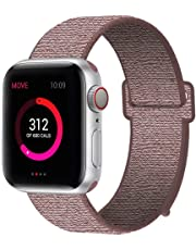 INTENY Sport Band Compatible with Apple Watch 38mm 40mm 42mm 44mm, Nylon Sport Loop, Strap Replacement for iWatch Series 4, Series 3, Series 2, Series 1