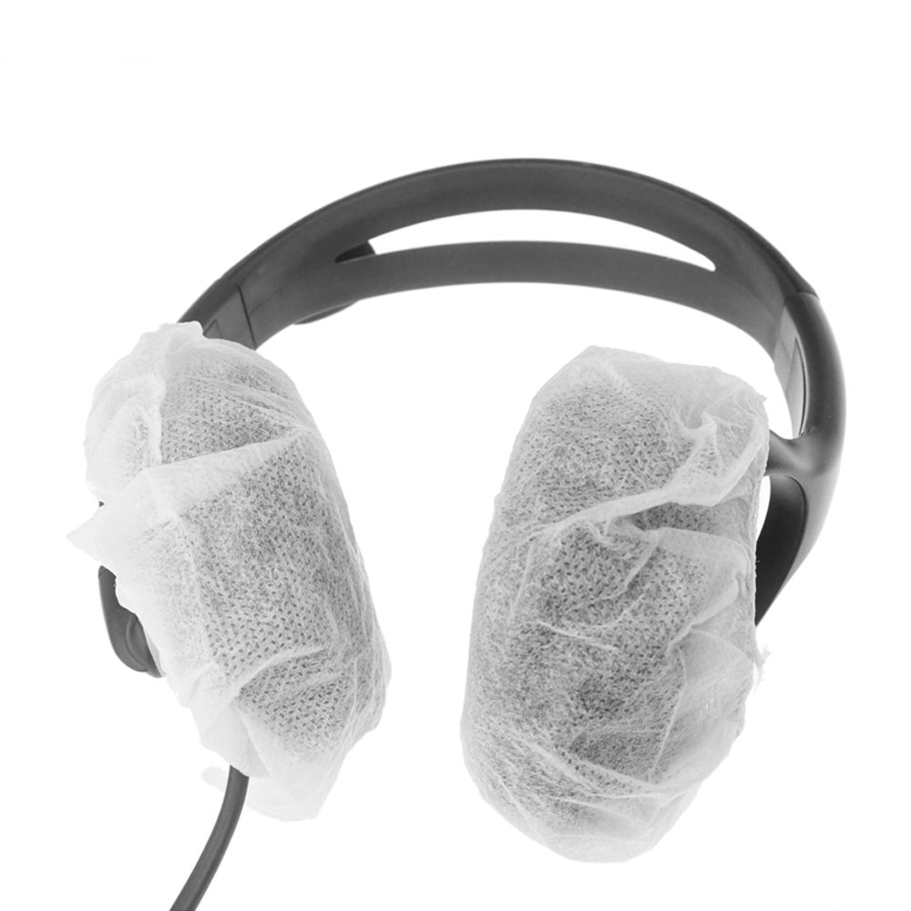 Large Stretchable Headphone Covers fits Earmuff-style headphones Bag of 100 Black