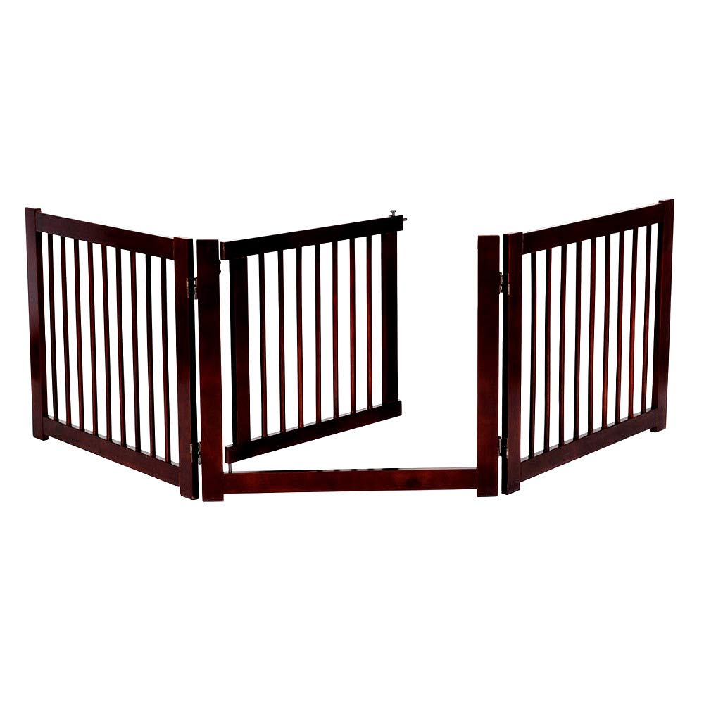 Folding Solid Wooden 3 Panel Free Standing Pet Safety Fence Durable and Sturdy - Skroutz Deals