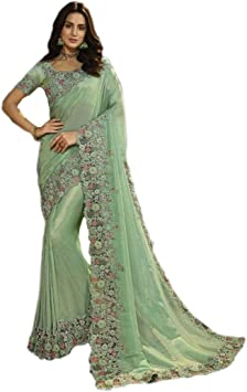 Blusa Sari 9436 de Tela India de Bollywood con Bordado Floral de Hilo de Corte de Hilo para el Trabajo Tradicional musulmán: Amazon.es: Bricolaje y herramientas