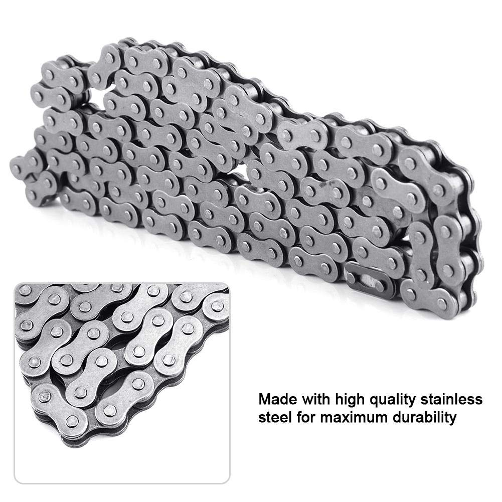 Duokon Stainless Steel Material Chain,415-110L Link Chain for 49cc 60cc 66cc 80cc Engine Motorized Bicycle Bike