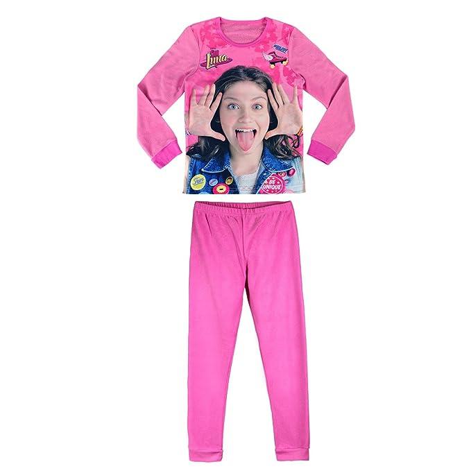 SOY LUNA pijama manga larga 2 piezas interlock 100% algodón (6 años)