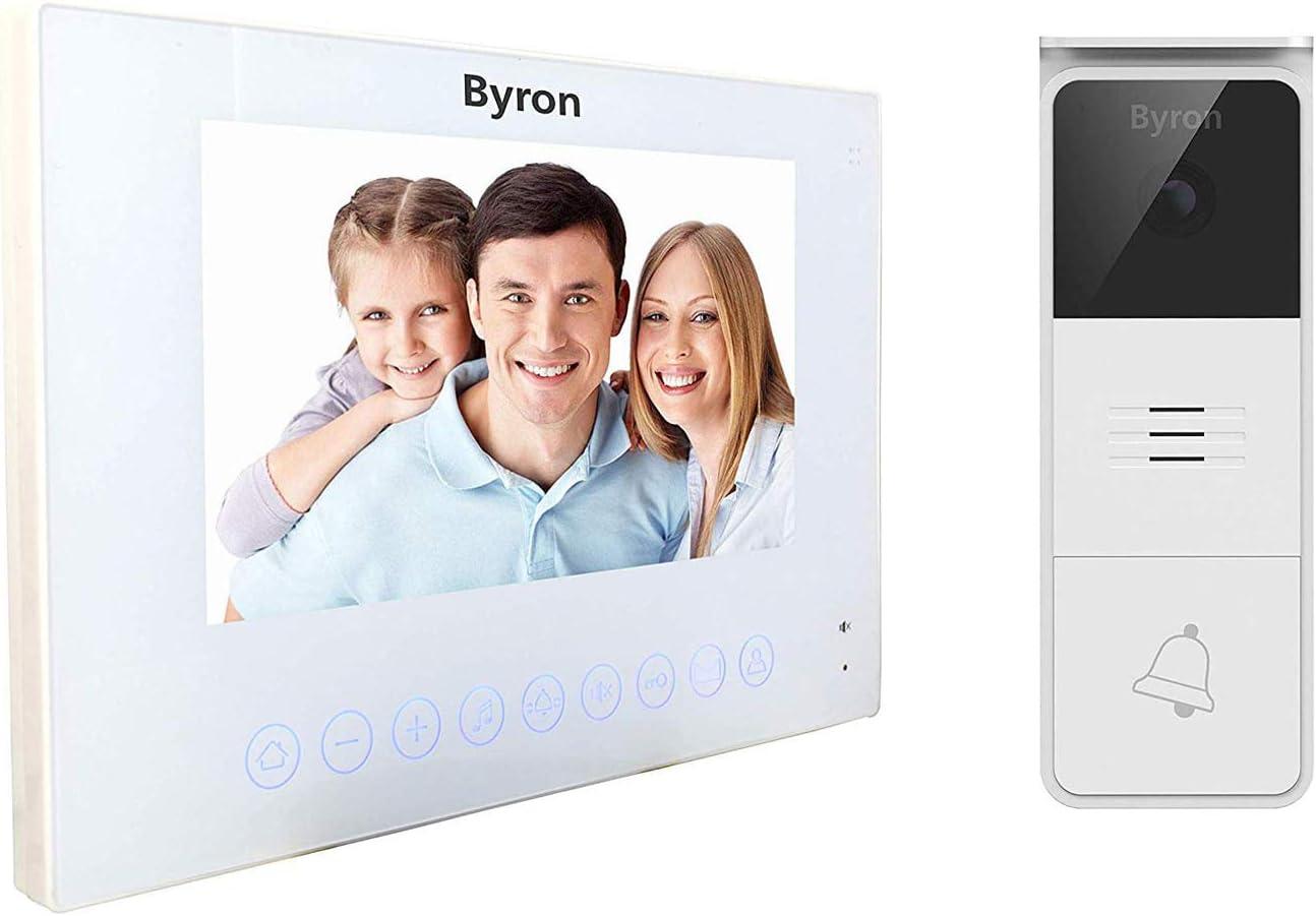 Ecran 7 Pouces Visiophone Filaire Byron Boutons Tactiles