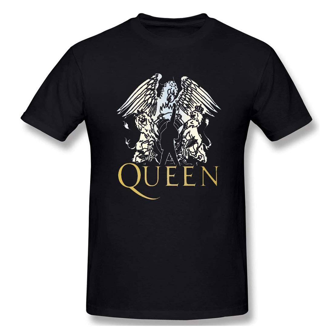 Huangfuzz Chenjunyi Queen Band Comfortable T Shirt Black