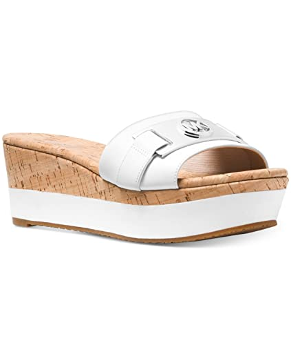 5a31b8d74a Amazon.com | Michael Michael Kors Warren Platform Wedge Sandal Optic ...