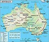 Australia Map (36'' W x 30.75'' H)
