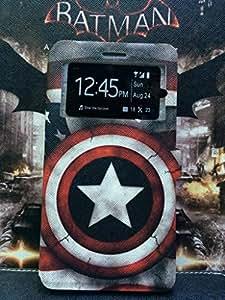 Captain America Cute Cartoon Slim Filp PU Smart Leather Stand Case Cover For Samsung S4 S IV i9500