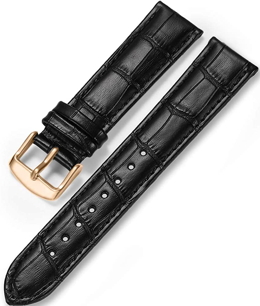 Correa de Piel Reloj iStrap Aligator Grano Replacement Reloj Banda 12/13/14/15/16/17 18 mm 19 mm 20 mm 21 mm 22 mm 24 Plateado Pin Hebilla Suave Pulsera – Negro Marrón