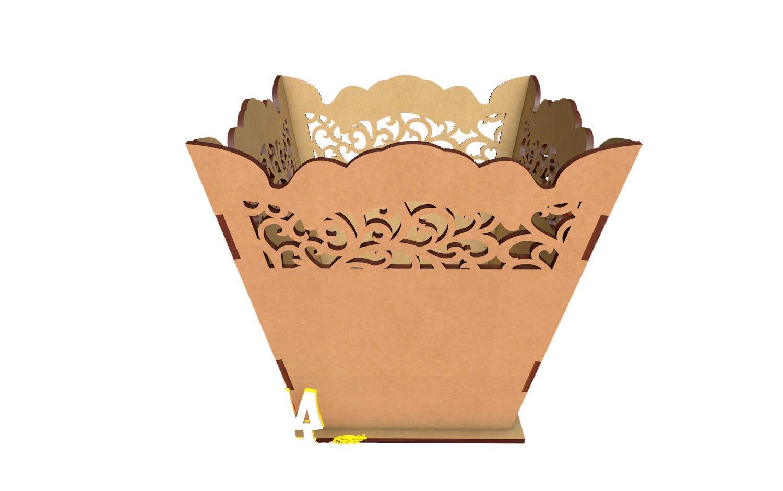 X 3 Kit para hacer palomitero o porta chuches de madera DM para candy bar mesa dulce. Medidas: 12 x 15 cm.: Amazon.es: Hogar
