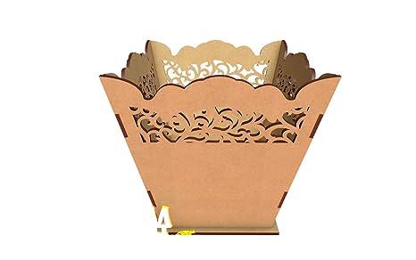 X 3 Kit para hacer palomitero o porta chuches de madera DM para candy bar mesa