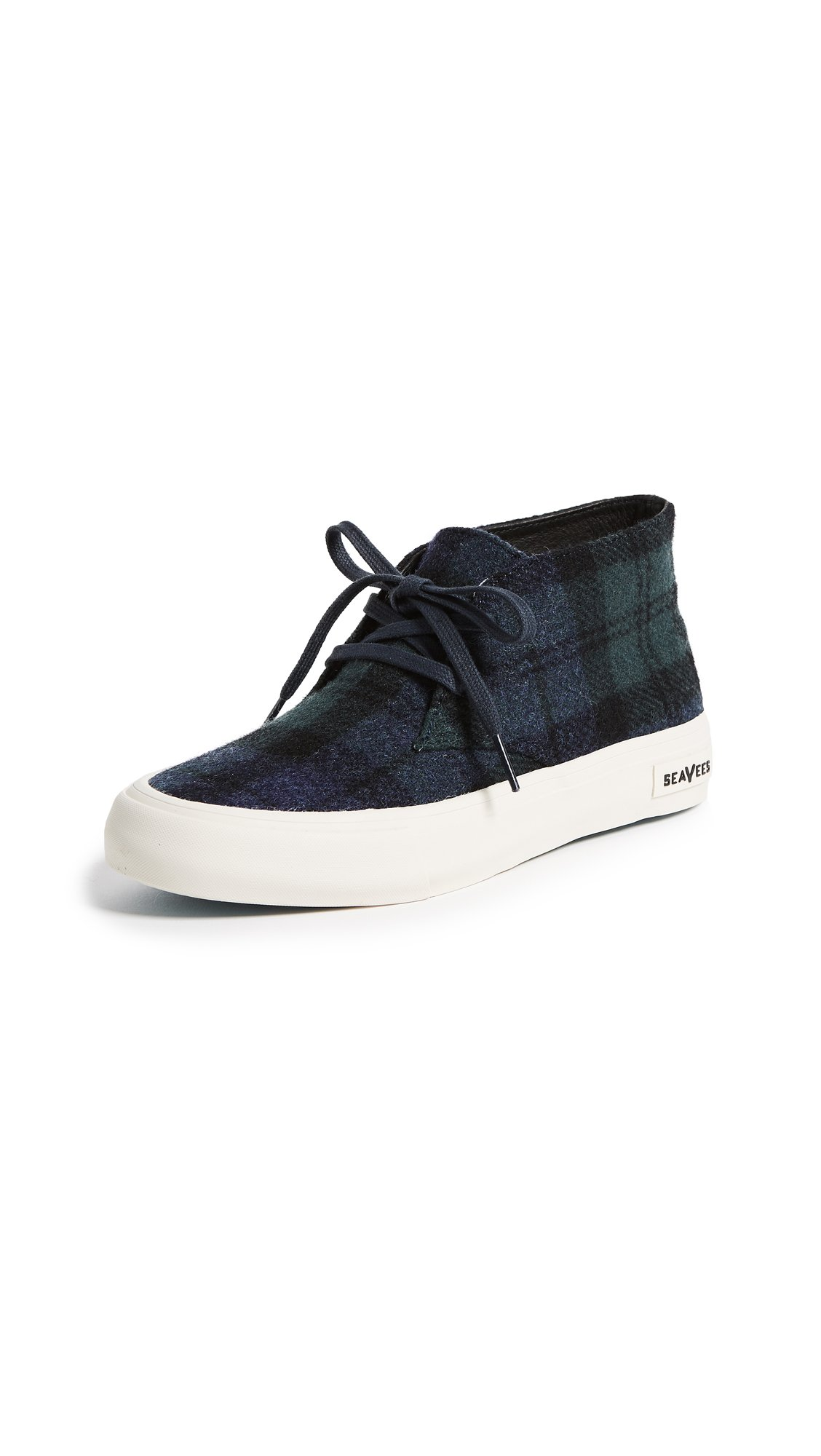 SeaVees Women's Maslon Desert Boot Sneakers, Blackwatch Plaid, 7.5 B(M) US