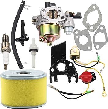 Amazon.com: Dalom GX160 Carburetor w 17210-ZE1-505 Kit de ...