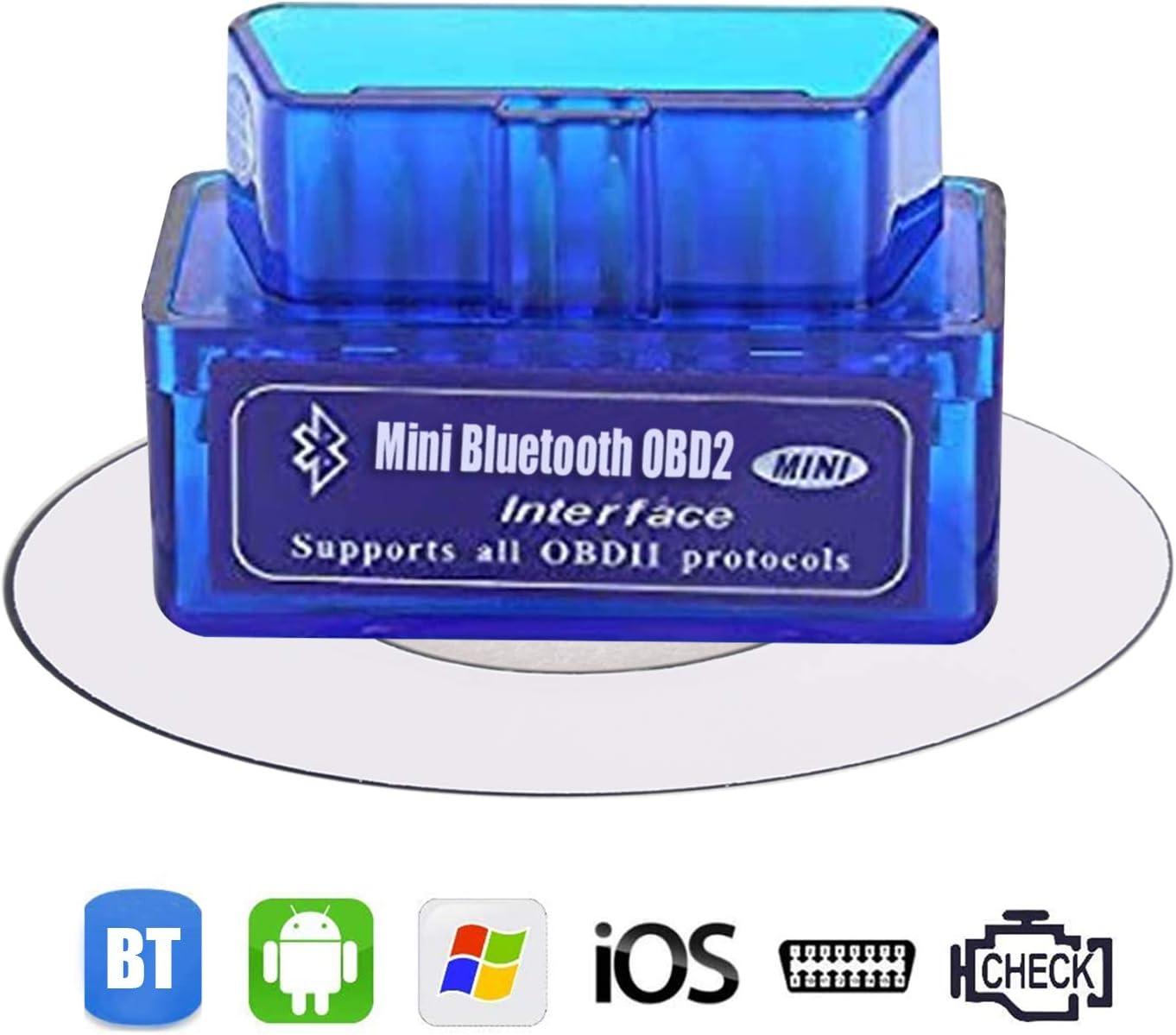Dasaita OBD-II OBD Bluetooth Coche Diagnóstico Escáner OBD2 Diagnósticos para Android Coche Smartphone Compatible con Android Windows Dispositivo (NO para iPad de Apple iPhone)