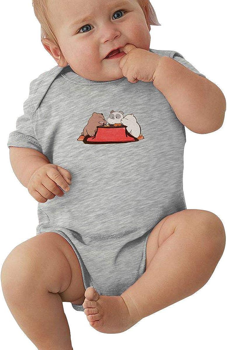 EVE JOHN We Bare Bears 2018 Baby Boy and Baby Girl Jersey Bodysuit Breathable Black