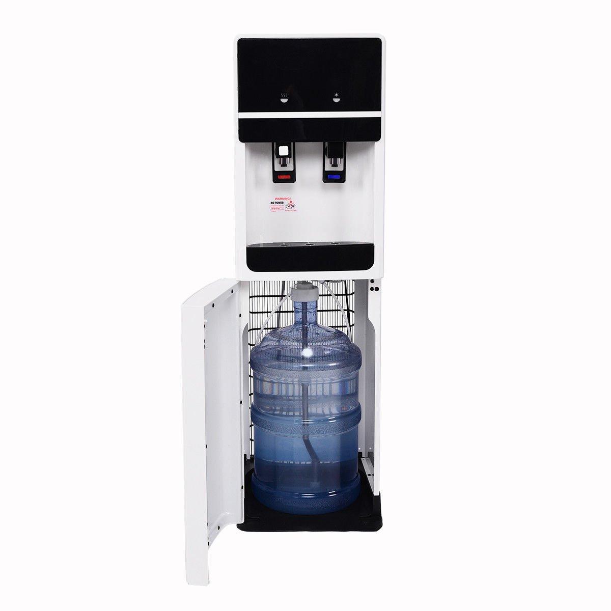Costway Bottom Loading Water Cooler Dispenser Underlying Stainless Steel Water Cooler Dispenser Cold Hot 5 Gallon Home Office