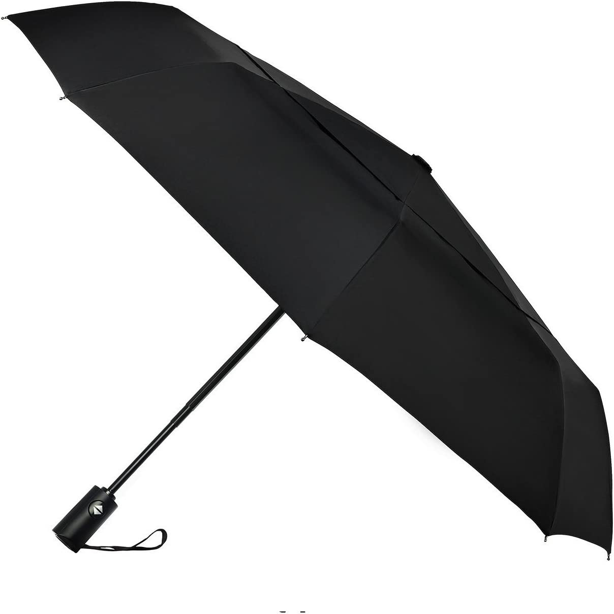 Travel Umbrella Windproof-Brown Wood Board,Durable Folding Compact Umbrella for Outdoor Rainy Use Auto Open and Close Button