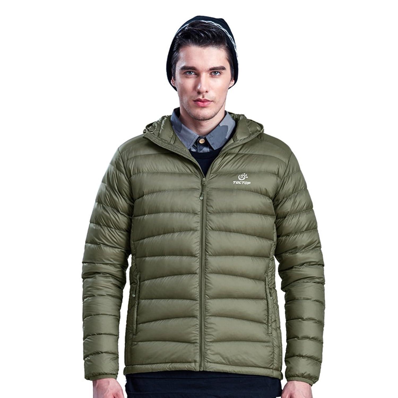emansmoer Herren Ultraleicht Puffer Puffa Packable Daunenjacke Winter Kapuze Winddicht Wasserdicht Outdoor Jacke Mantel