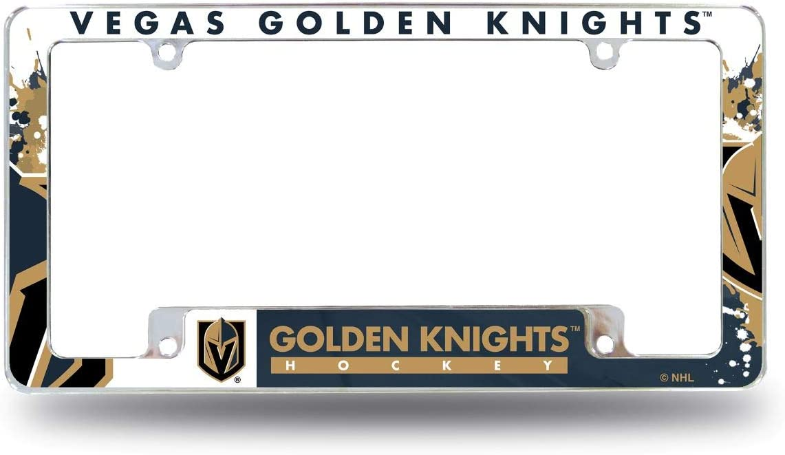 Rico Industries AFC9901B Golden Knights All Over Chrome Frame, Multi